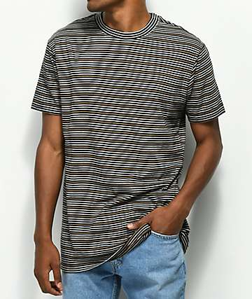 RVCA Benson Black & Gold Stripe Knit T-Shirt