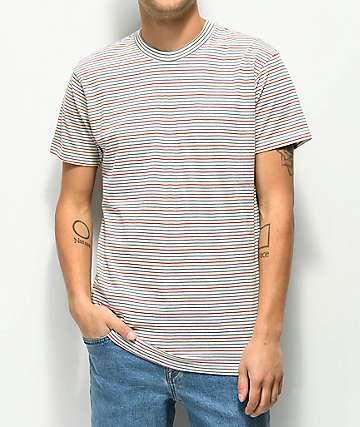 RVCA Benson camiseta blanquecina de rayas
