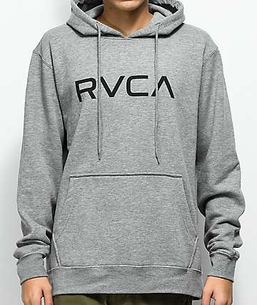 RVCA Big Athletic sudadera gris con capucha