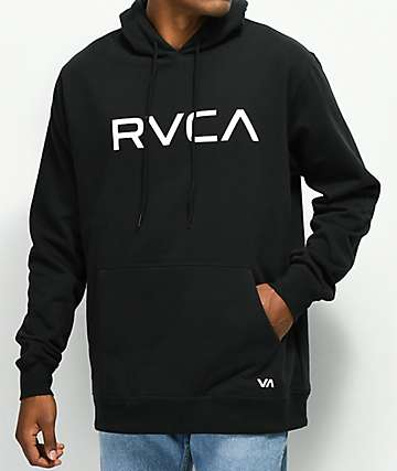 RVCA Big Logo Black Hoodie