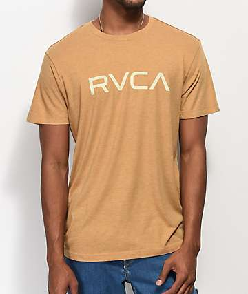 RVCA Big Logo Mustard T-Shirt
