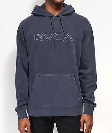 RVCA Big Logo sudadera con capucha gris