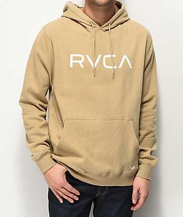 RVCA Big RVCA Khaki Hoodie