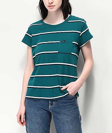 RVCA Big Stripe Spruce T-Shirt