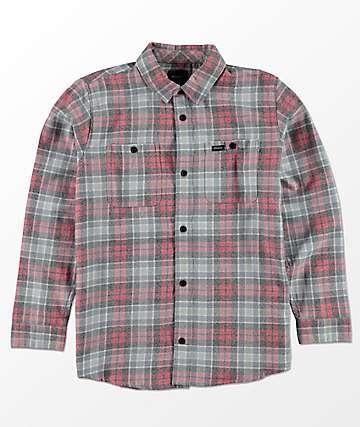 RVCA Boys Diffusion Red, Blue & White Flannel