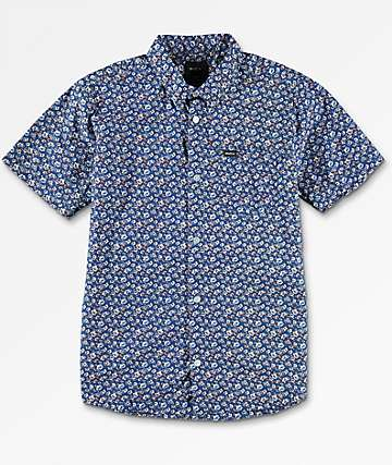 RVCA Boys Porcelain Blue Woven Shirt