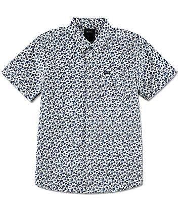 RVCA Boys Porcelain White Woven Shirt