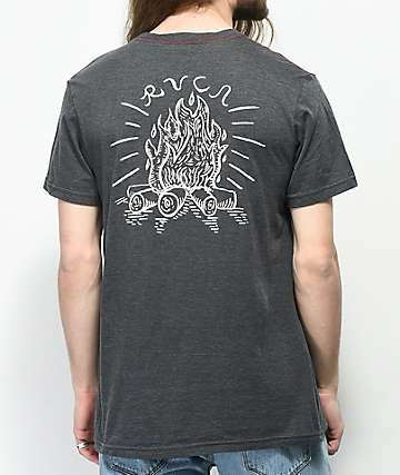 RVCA Camp Harmony Grey T-Shirt