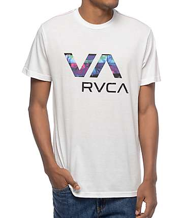 RVCA Chopped VA Off White T-Shirt