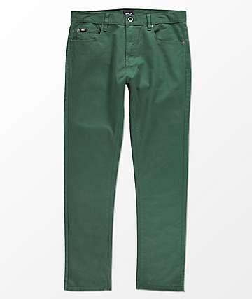 RVCA Daggers jeans asargados en verde
