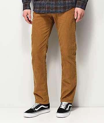 RVCA Daggers pantalones de pana caqui
