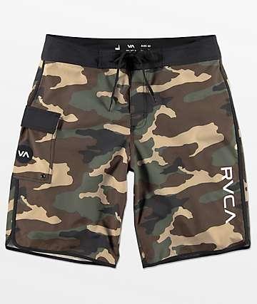 RVCA Eastern shorts de baño en negro y camuflaje