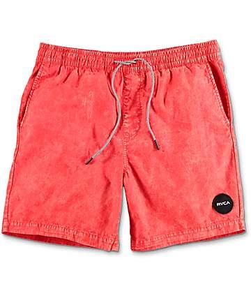 RVCA Fade shorts híbridos en rojo