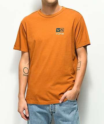 RVCA Flip Box Cathay camiseta naranja oscuro
