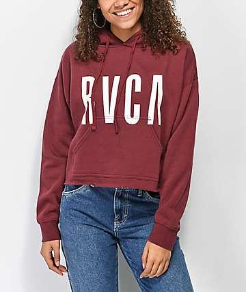RVCA Freshman sudadera borgoña con capucha