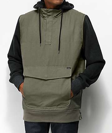 RVCA Grip It Olive & Black Anorak Puffer Jacket