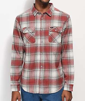 RVCA High Plains camisa de franela gris y rojo