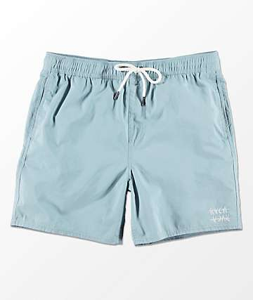 RVCA Horton Light Blue Elastic Waist Shorts
