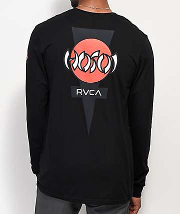RVCA Hosoi Black Long Sleeve T-Shirt