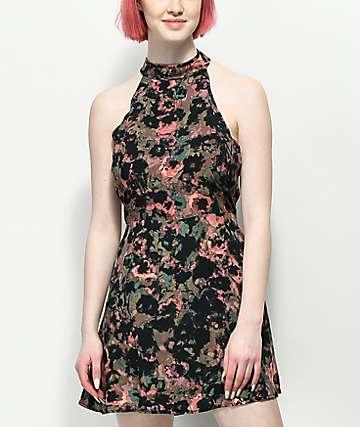 RVCA Kingsman vestido floral en color malva