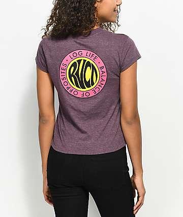 RVCA Log Life Purple T-Shirt