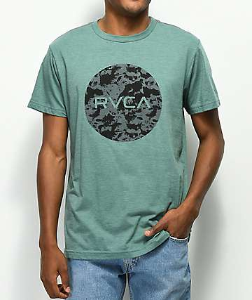 RVCA Motors Fill Pine Green T-Shirt