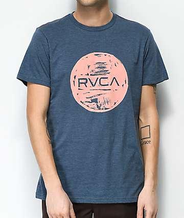 RVCA Motors Ink Navy & Pink T-Shirt