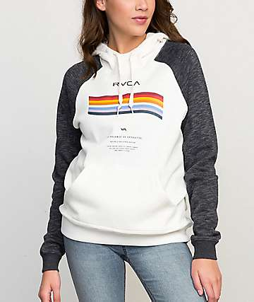 RVCA New Wave White Hoodie