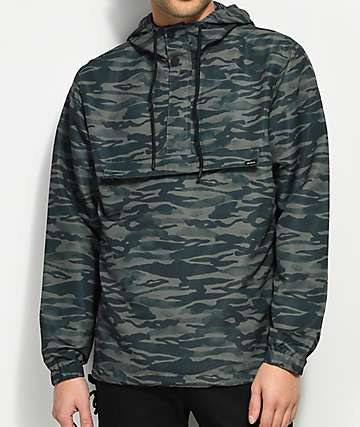RVCA Packaway Camo Anorak Jacket