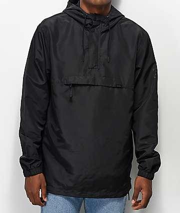 RVCA Packaway II Black Anorak Jacket