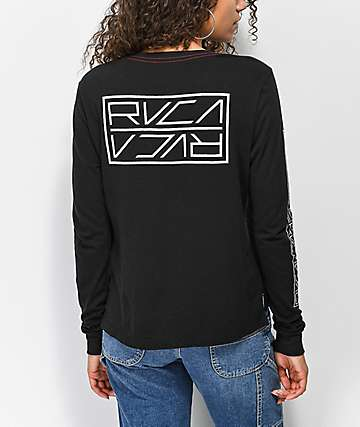 RVCA Reflector Black Long Sleeve T-Shirt