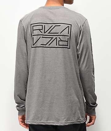 RVCA Reflector Grey Long Sleeve T-Shirt