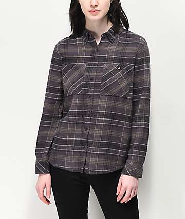 fe70690e RVCA Roam Black Flannel Shirt