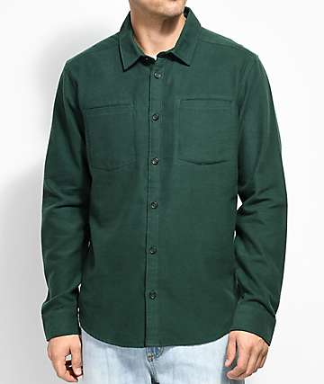 RVCA Second Look Green Flannel Shirt