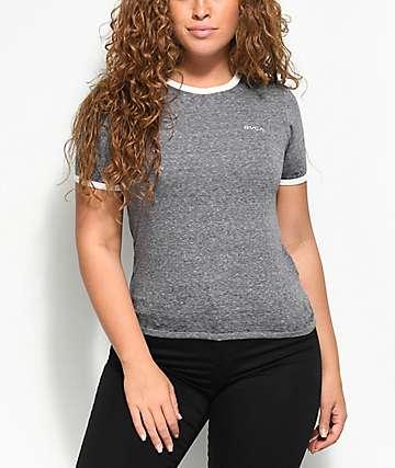 RVCA Small camiseta en gris jaspeado
