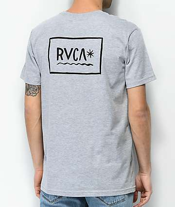 RVCA Squiggle camiseta gris jaspeada