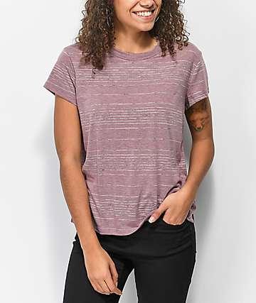 RVCA Suspension 2 camiseta magenta descolorida