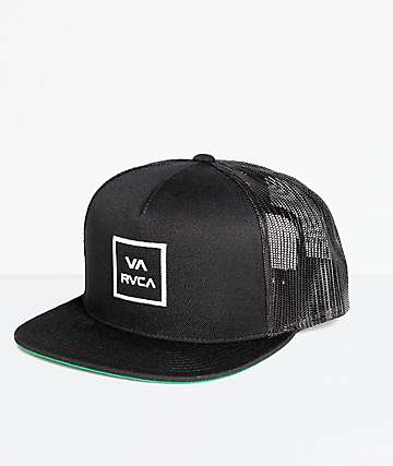 RVCA VA All The Way Black Trucker Hat Hats | Zumiez