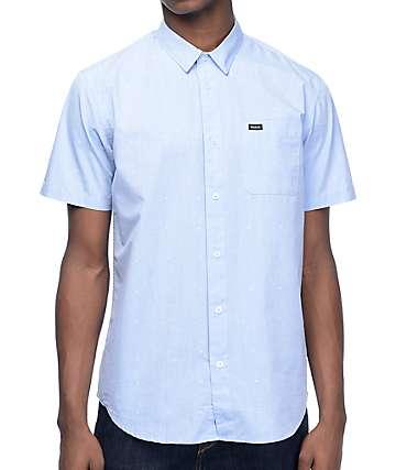 RVCA VA Dobby camisa en azul claro