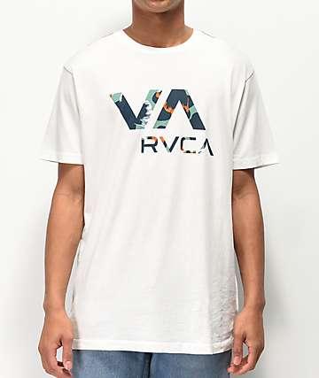 RVCA VA Floral Fil camiseta blanca