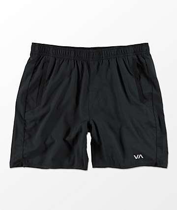 RVCA Yogger III Black Shorts