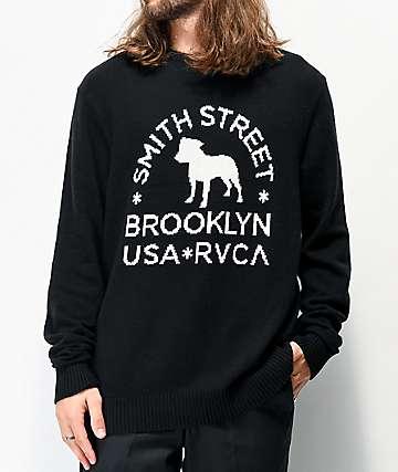 RVCA x Smith Street Tattoo Black Sweater
