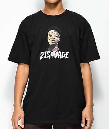 RadYo! x 21 Savage Mask Black T-Shirt