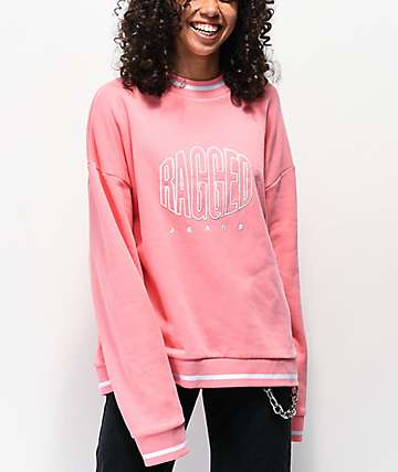Ragged Jeans Logo Pink Crewneck Sweatshirt