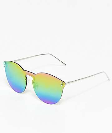 Rainbow Shielded Sunglasses