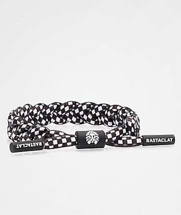 Rastaclat Checkered Black & White Bracelet