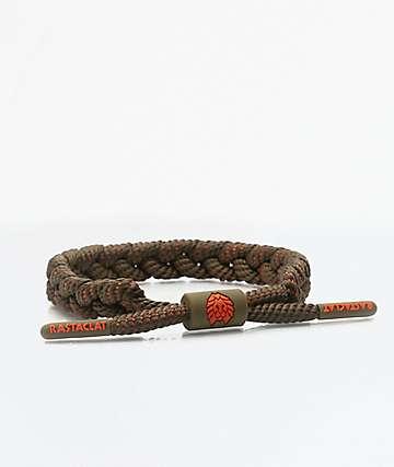Rastaclat Classic Delta Olive & Orange Bracelet