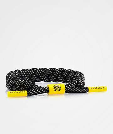 Rastaclat Coal Tiger Black, Grey & Yellow Bracelet