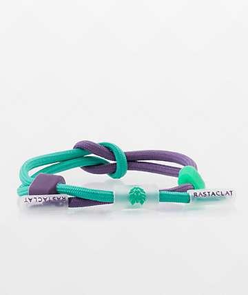 Rastaclat Compound Mist Neon Purple & Green Bracelet