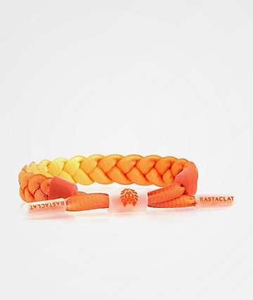 Rastaclat Full Braid Bright Orange Bracelet